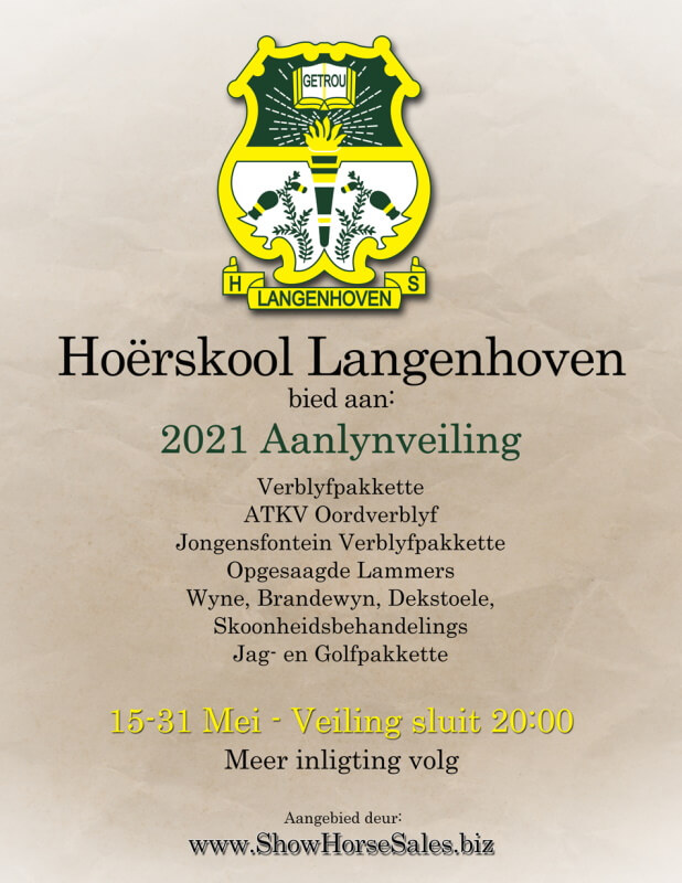 Hoërskool Langenhoven Aanlynveiling 2021