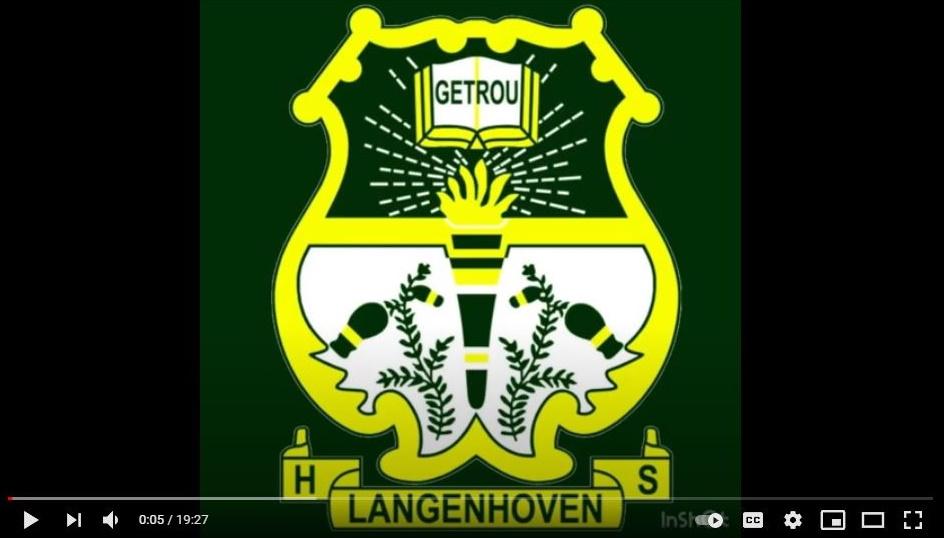 Langenhoven Hoërskool Riversdal Video